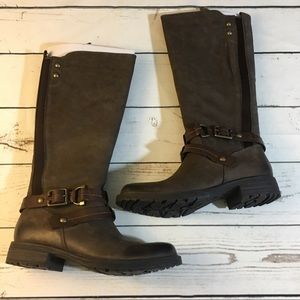 Earth Women's Sierra Stone Leather Boots Brand New